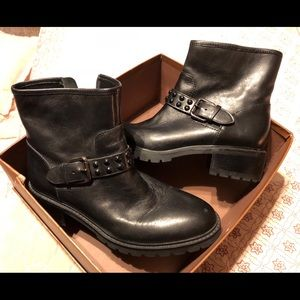 Like new Coach ankle boots. Worn ONCE